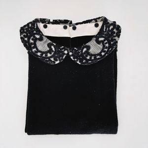 Alice & Olivia Lace Collar Sweater
